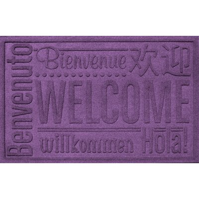 Aqua Shield World Wide Doormat Rug Size: 2 x 3, Color: Purple