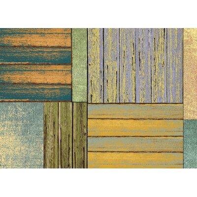 Fo Flor Patchwork Doormat Rug Size: 23 x 36