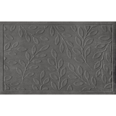 Soft Impressions Britney Leaf Doormat Color: Charcoal, Rug Size: 2 x 3