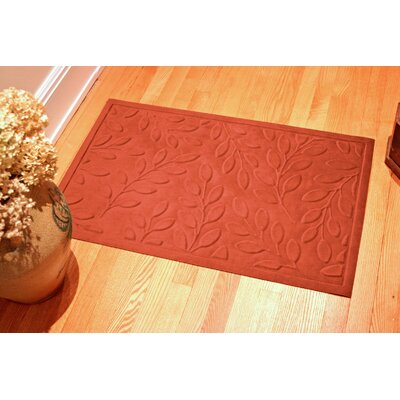 Soft Impressions Britney Leaf Doormat Color: Pepper, Rug Size: 2 x 3