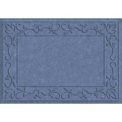 Deidre Vine Doormat Rug Size: Rectangle 2 x 3, Color: Sky