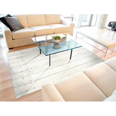 Fo Flor Whitewash Doormat Rug Size: 23 x 36, Color: White