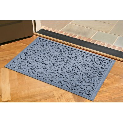 Aqua Shield Halcyon Doormat Rug Size: 2 x 3, Color: Bluestone