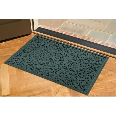 Conway Doormat Color: Dark Brown, Rug Size: Rectangle 2 x 3