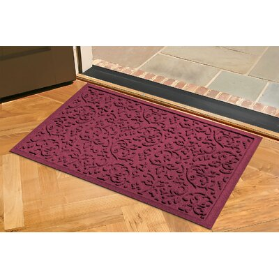 Aqua Shield Halcyon Doormat Rug Size: 2 x 3, Color: Bordeaux