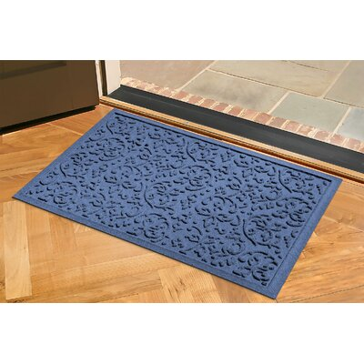 Conway Doormat Rug Size: Rectangle 2 x 3, Color: Navy