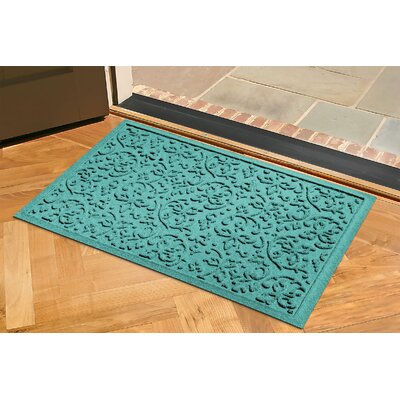 Conway Doormat Rug Size: Rectangle 2 x 3, Color: Aquamarine