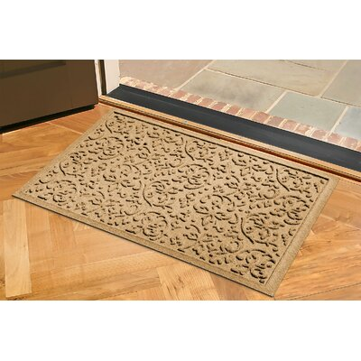 Aqua Shield Halcyon Doormat Rug Size: 2 x 3, Color: Gold