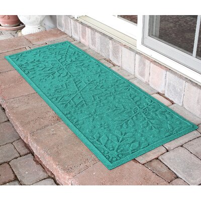 Aqua Shield Holiday Snowflake Doormat