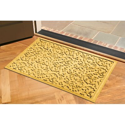 Aqua Shield Halcyon Doormat Rug Size: 2 x 3, Color: Yellow
