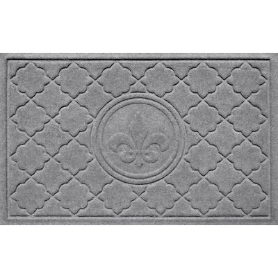Aqua Shield Bombay Fleur de Lis Doormat Color: Medium Gray