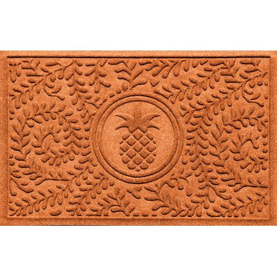 Aqua Shield Boxwood Pineapple Doormat Color: Orange
