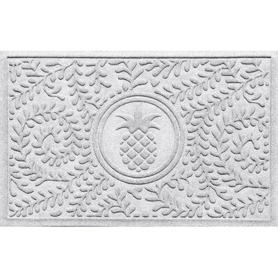 Aqua Shield Boxwood Pineapple Doormat Color: White