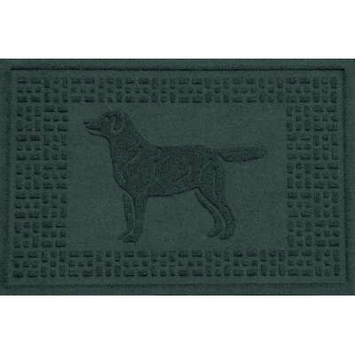Conway Labrador Retriever Doormat Color: Evergreen