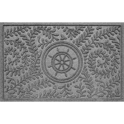 Aqua Shield Boxwood Ships Wheel Doormat Color: Medium Gray