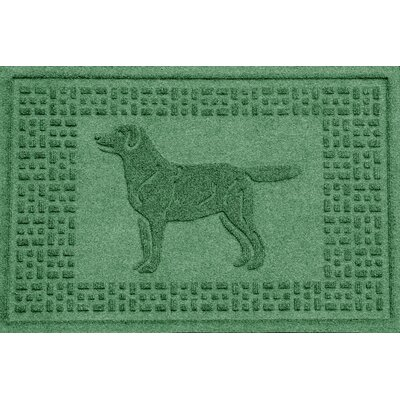 Aqua Shield Labrador Retriever Doormat Color: Light Green