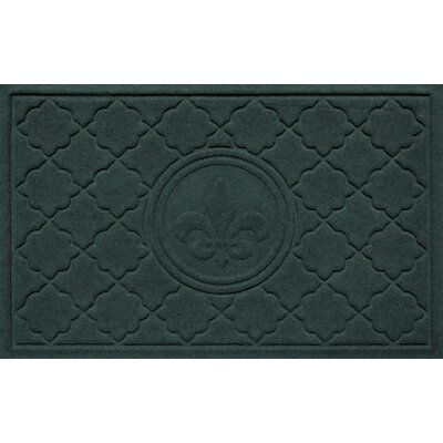 Aqua Shield Bombay Fleur de Lis Doormat Color: Evergreen