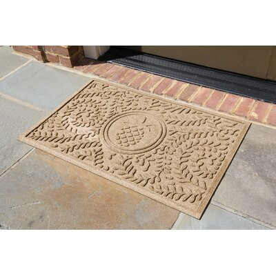 Conway Boxwood Pineapple Doormat Color: Camel