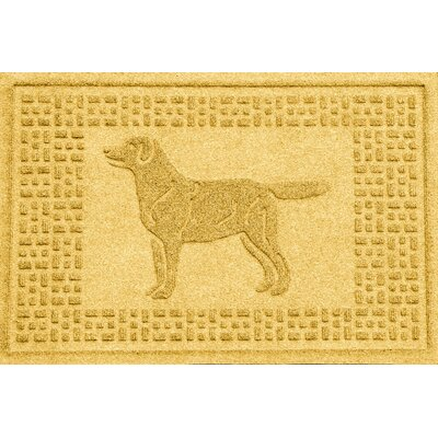 Aqua Shield Labrador Retriever Doormat Color: Yellow