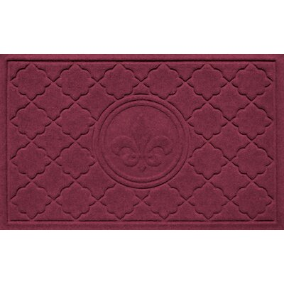Aqua Shield Bombay Fleur de Lis Doormat Color: Bordeaux