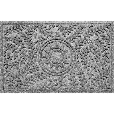Aqua Shield Boxwood Sun Doormat Color: Medium Gray