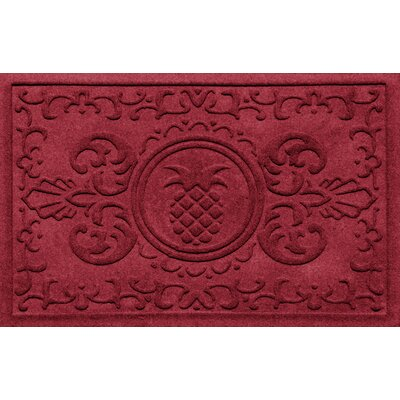 Aqua Shield Baroque Pineapple Doormat Color: Red/Black