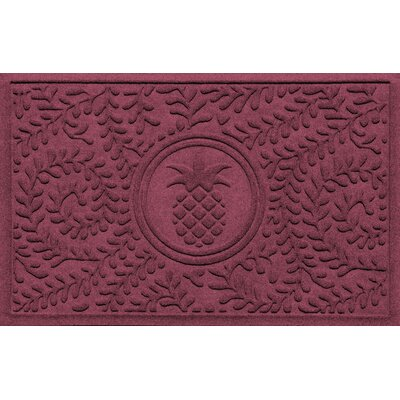 Aqua Shield Boxwood Pineapple Doormat Color: Bordeaux