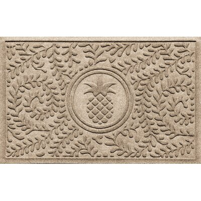 Aqua Shield Boxwood Pineapple Doormat Color: Camel