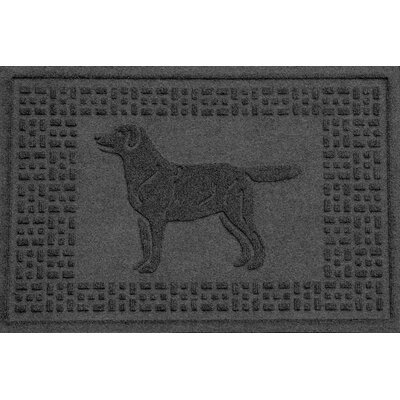 Conway Labrador Retriever Doormat Color: Charcoal