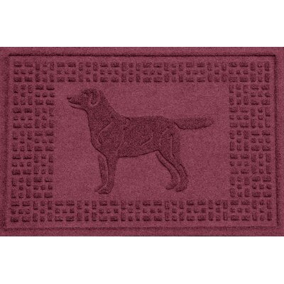 Conway Labrador Retriever Doormat Color: Bordeaux