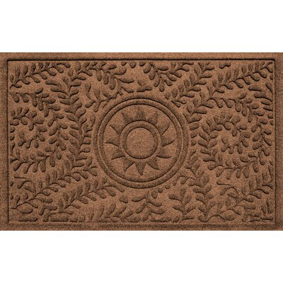 Conway Boxwood Sun Doormat Color: Dark Brown