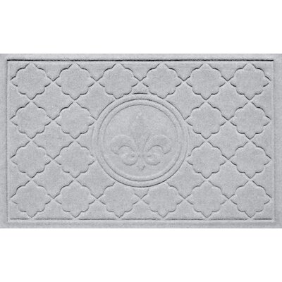 Aqua Shield Bombay Fleur de Lis Doormat Color: White