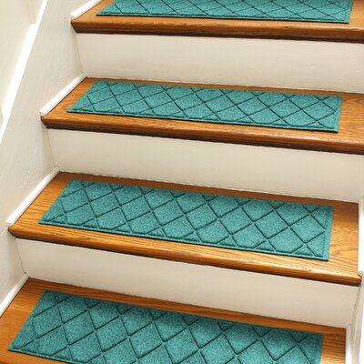 Aqua Shield Aquamarine Argyle Stair Tread