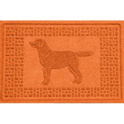 Conway Labrador Retriever Doormat Color: Orange