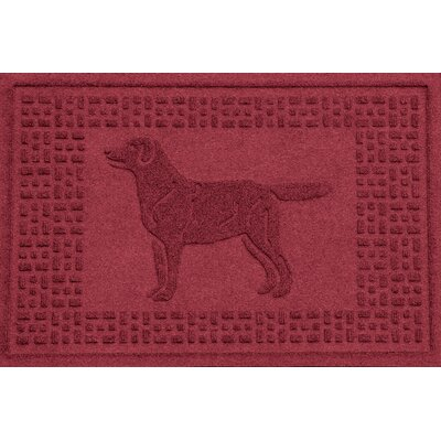 Conway Labrador Retriever Doormat Color: Red/Black