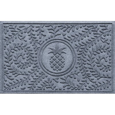 Aqua Shield Boxwood Pineapple Doormat Color: Bluestone