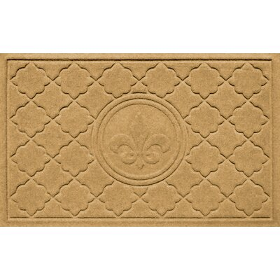 Aqua Shield Bombay Fleur de Lis Doormat Color: Gold