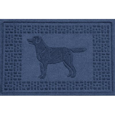Conway Labrador Retriever Doormat Color: Navy
