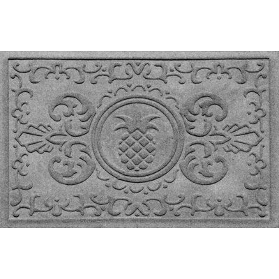 Aqua Shield Baroque Pineapple Doormat Color: Medium Gray