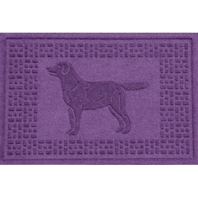 Conway Labrador Retriever Doormat Color: Purple