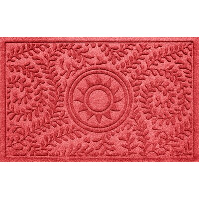 Aqua Shield Boxwood Sun Doormat Color: Solid Red