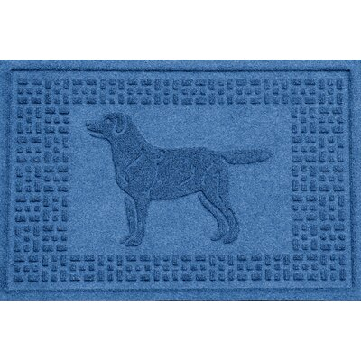 Aqua Shield Labrador Retriever Doormat Color: Medium Blue