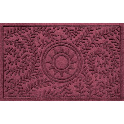 Aqua Shield Boxwood Sun Doormat Color: Bordeaux