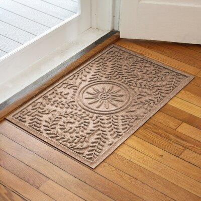 Aqua Shield Boxwood Flower Doormat Color: Medium Brown