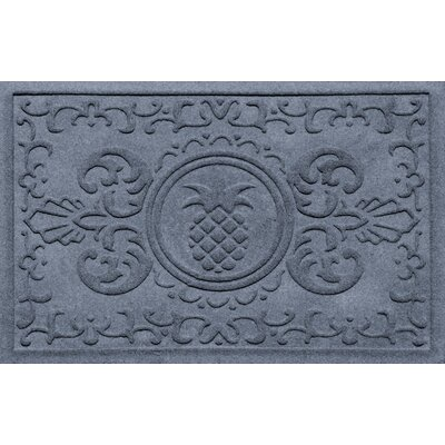 Aqua Shield Baroque Pineapple Doormat Color: Bluestone