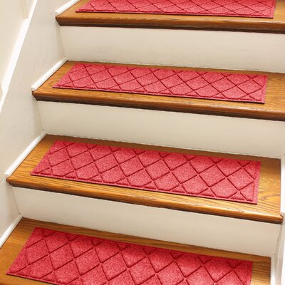 Aqua Shield Red Argyle Stair Tread