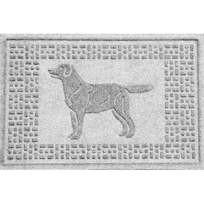 Conway Labrador Retriever Doormat Color: White