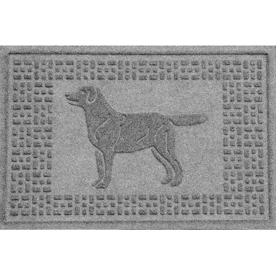 Aqua Shield Labrador Retriever Doormat Color: Medium Gray