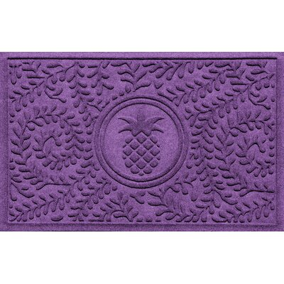 Aqua Shield Boxwood Pineapple Doormat Color: Purple
