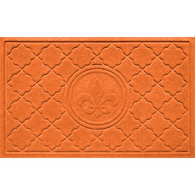 Aqua Shield Bombay Fleur de Lis Doormat Color: Orange